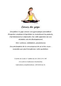 Cours de yoga evrehailles